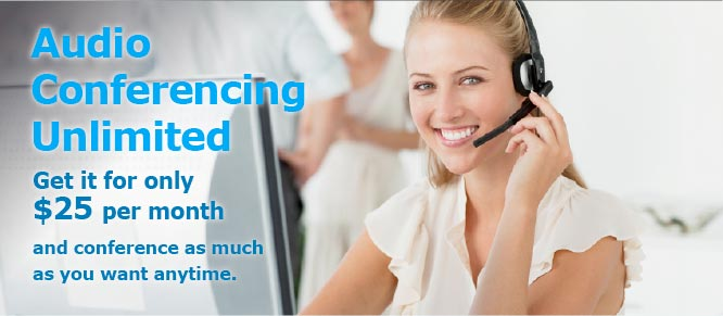 Premium unlimited audio conferencing